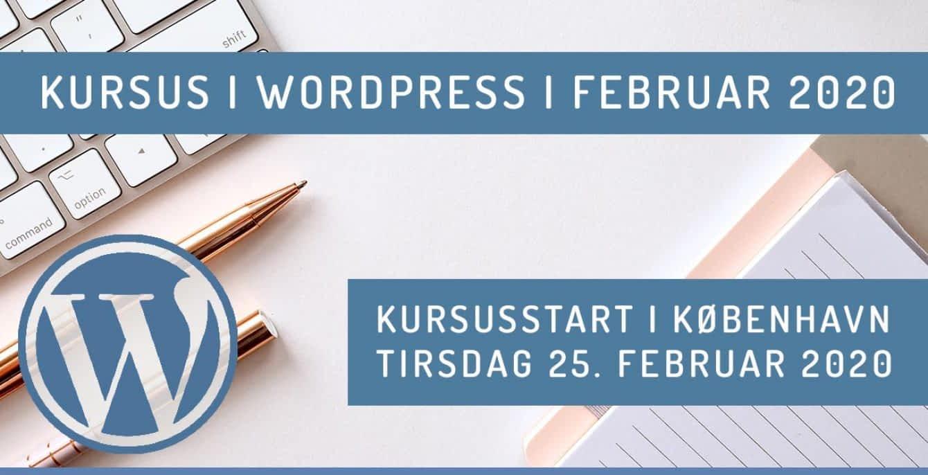 WordPress kursus i København 2020 forår - februar 20