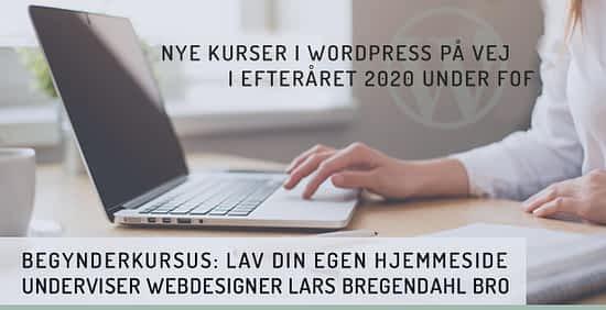 WordPress kursus København 2020
