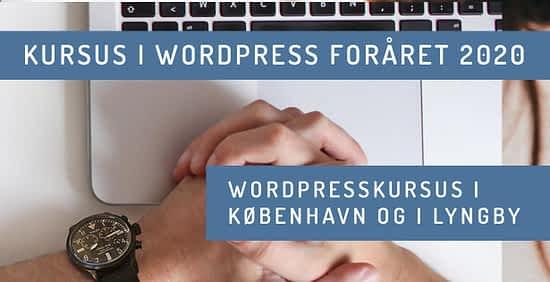 WordPress kursus i København - undervisning i design af hjemmesider