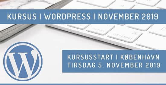 WordPress kursus i København november 2019