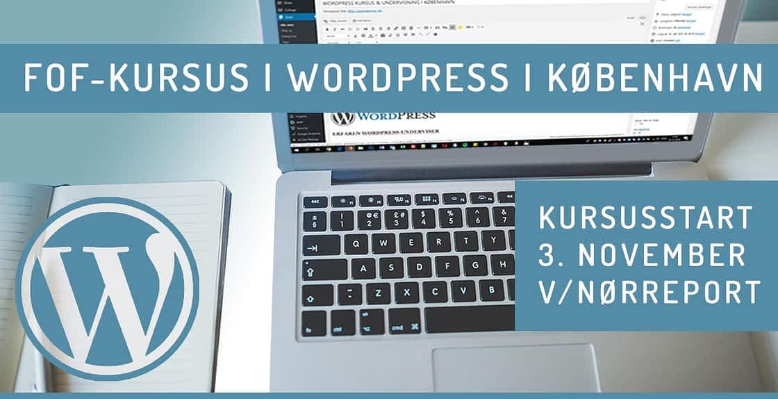 WordPress kursus - september 2020 efterår København