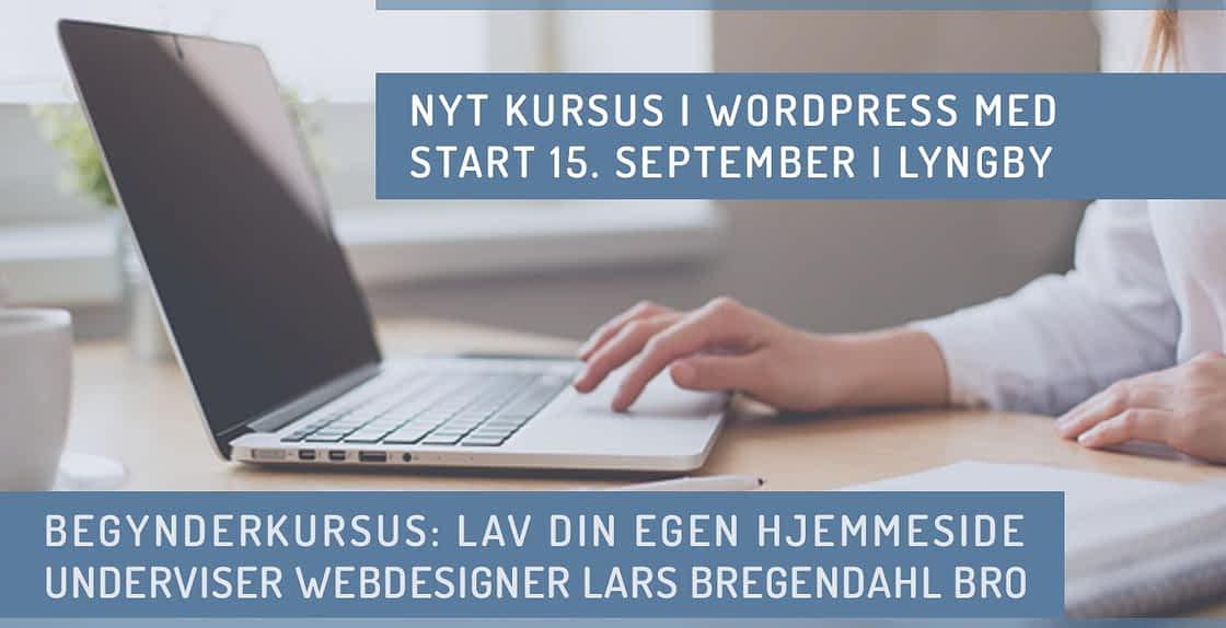 WordPress kursus Lyngby september 2020 efterår København