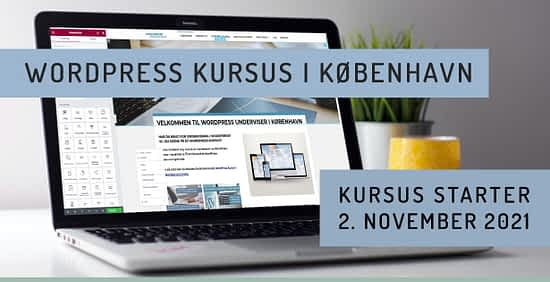 Kursus i WordPress hjemmesider undervisning i november 2021