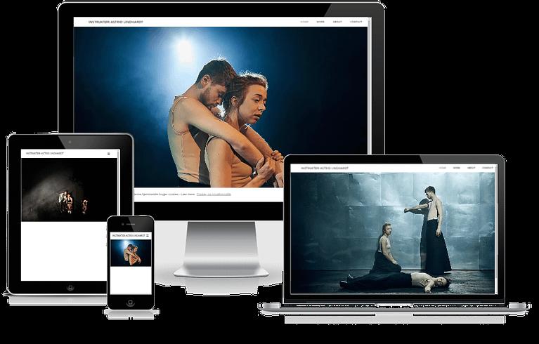 Hjemmeside til teaterinstruktør Astrid Lindhadt