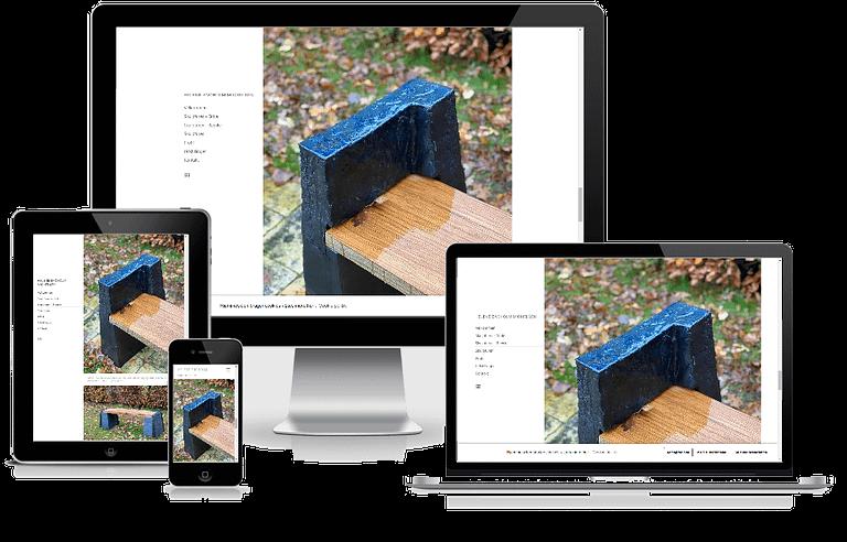 WordPress hjemmeside designet til keramisk kunstner